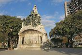 stock photo of gaudi barcelona  - Memorial for Bartomeu Robert Tetuan Square Barcelona  - JPG