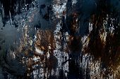 image of tar  - rusty metal background with tar stain at surface - JPG