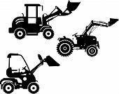 image of skid-steer  - Detailed illustration of skid steer loaders - JPG