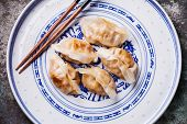 picture of kimchi  - special Kimchi Fried Dumplings Dumpling close up - JPG