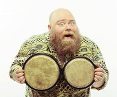 picture of drums  - Happy drum player - JPG