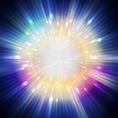 stock photo of aura  - star light aura in universe illustration background - JPG