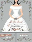 picture of bridal shower  - Bridal shower invitation set - JPG