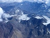 image of aconcagua  - Range of the Andes between Argentina and Chile. Aerial Photography.