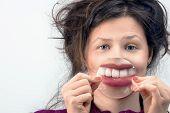 stock photo of facial piercings  - Woman - JPG