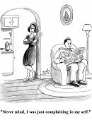 picture of wifes  - Cartoon of husband and wife - JPG