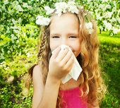 image of allergy  - Sneezing girl - JPG