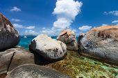 image of virgin  - Stunning beach with unique huge granite boulders - JPG