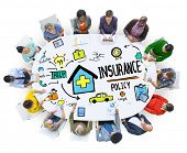 picture of insurance-policy  - Diversity Casual People Insurance Policy Digital Communication Concept - JPG