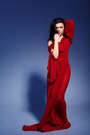 pic of marsala  - Beauty in marsala dress - JPG
