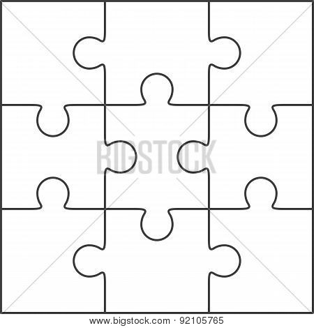 Jigsaw Puzzle Blank Template 3X3 Poster ID:92105765