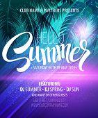 foto of beach party  - Hello Summer Beach Party Flyer - JPG