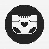 image of diaper  - Baby Diaper Icon - JPG