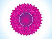 stock photo of sanskrit  - detailed artistic purple crown chakra vector illustration - JPG