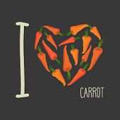 stock photo of carrot  - I love carrots - JPG