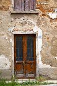 image of windows doors  - brown europe italy lombardy in the milano old window closed brick abstract door terrace - JPG