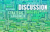 picture of debate  - Discussion or Debate as a Verbal Concept Art - JPG