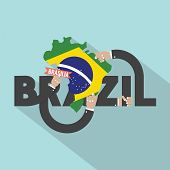 picture of brasilia  - Brasilia The Capital City Of Brazil Typography Design Vector Illustration - JPG