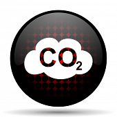 stock photo of carbon-dioxide  - carbon dioxide red glossy web icon  - JPG