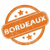picture of bordeaux  - Round rubber stamp with city name Bordeaux and stars - JPG