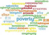 stock photo of poverty  - Background concept wordcloud multilanguage international many language illustration of poverty - JPG
