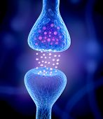 stock photo of hormone  - Active receptor isolated on a blue background - JPG
