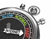 picture of chronometer  - Fast internet concept in the form of chronometer watch - JPG