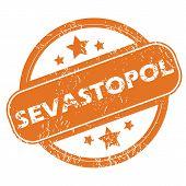 pic of sevastopol  - Round rubber stamp with city name Sevastopol and stars - JPG
