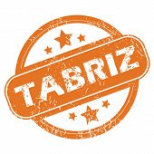 image of tabriz  - Round rubber stamp with city name Tabriz and stars - JPG