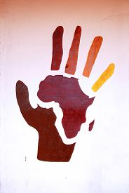 picture of mural  - African murals  - JPG