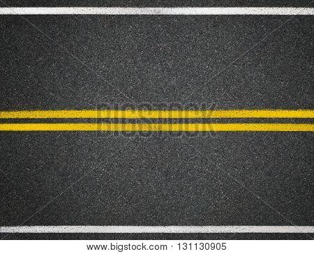 Asphalt road highway line marks