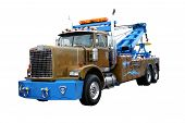 picture of 18 wheeler  - this is a picture of a heavy duty wrecker used for towing semi trucks - JPG