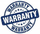 Warranty Blue Grunge Round Vintage Rubber Stamp.warranty Stamp.warranty Round Stamp.warranty Grunge poster