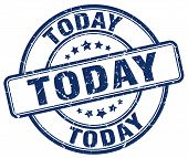 Today Blue Grunge Round Vintage Rubber Stamp.today Stamp.today Round Stamp.today Grunge Stamp.today. poster