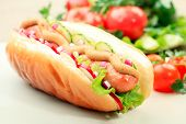 image of hot dog  - Close up of hot dog - JPG