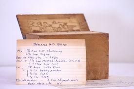 foto of recipe card  - an old - JPG