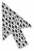 Mouse Cursor Figure Organized In The Set Of Mouse Cursor Icons. Vector Iconized Composition Done Wit poster
