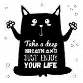 Vector Cartoon Sketch Cat Illustration poster
