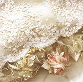 Постер, плакат: Текстильная свадебный фон