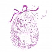 picture of easter-eggs  - Stylized Easter Egg with Bow - JPG