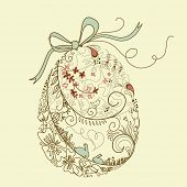 pic of happy easter  - Easter egg with floral elements - JPG