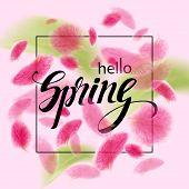 Pink Petals Soar In The Air. poster