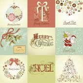 foto of card christmas  - Set of Christmas Cards - JPG