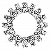 Gear Mosaic Of Gear Icons. Vector Cog Wheel Parts Are Composed Into Gear Illustration. poster