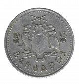 Постер, плакат: Барбадос монета 1973