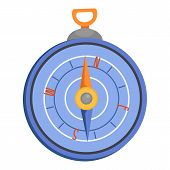 Compass Icon. Flat Illustration Of Compass Vector Icon For Web poster