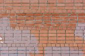 The Wall Of Bricks Is Brown. Beautiful Background Of Smooth Masonry. Texture. poster