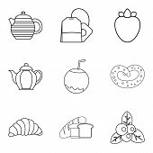 Vegan Menu Icons Set. Simple Set Of 9 Vegan Menu Vector Icons For Web Isolated On White Background poster