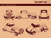 Постер, плакат: Старые автомобили 0047 купе автомобиль Pontiac