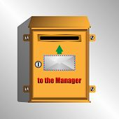 A Mailbox For Letters To The Manager. Vector Illustration poster